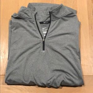 Nike running Dri fit long sleeve quarter zip